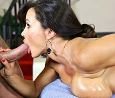 Massaging the stunning LIsa Ann