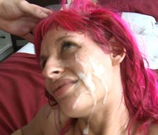 Nasty girl gets her first facial