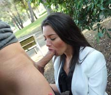 Latina lady fucks in a park