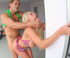 Fucking Sienna Day hard against the wall