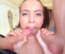 Zoe Doll sucks two cocks at the same time