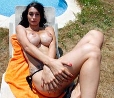 Hot Latina waiting for her lotion